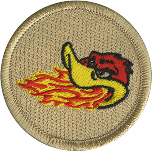 Fire Breathing Duck Scout Patrol Patch - embroidered 2 inch round