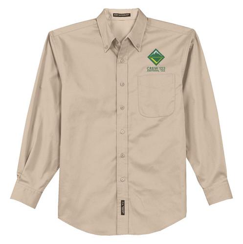 Long Sleeve Button Shirt with BSA Venturing Crew Logo