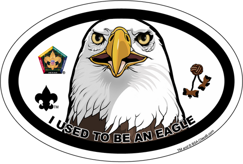 Wood Badge Magnet with Wood Badge Eagle and Wood Badge Logo