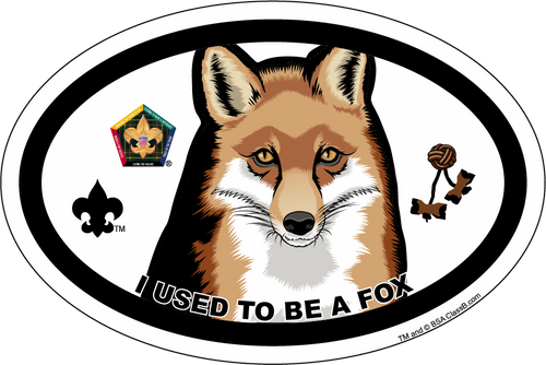 Wood Badge Magnet with Wood Badge Fox and Wood Badge Logo