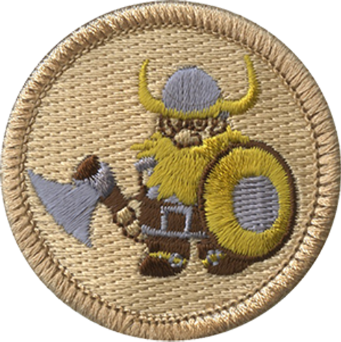 Armed Viking Scout Patrol Patch - embroidered 2 inch round