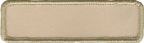 Blank Name Rectangle Patch