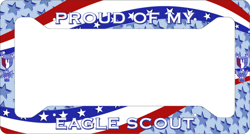 Scouting License Plate Frame Low Profile - Proud Of My Eagle Scout! SP6815