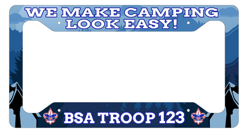 Scouting License Plate Frame Low Profile - We Make Camping Look Easy! SP6816