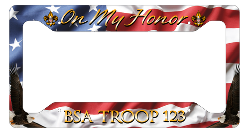 Scouting License Plate Frame Low Profile - On My Honor! SP6818