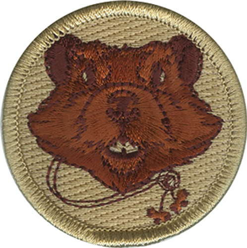 Wood Badge Beaver with Beads Scout Patrol Patch - embroidered 2 inch round