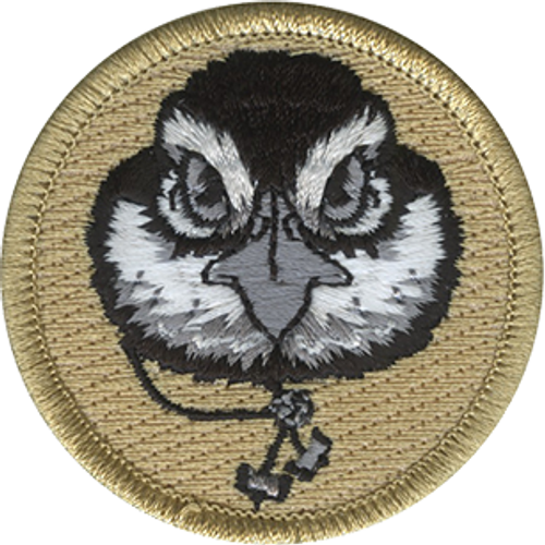 Wood Badge Bobwhite with Beads Scout Patrol Patch - embroidered 2 inch round
