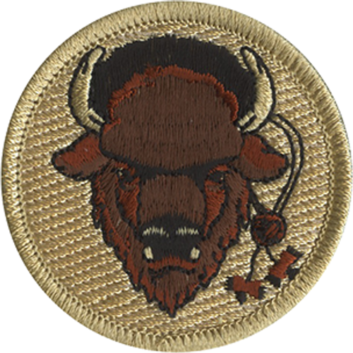 Wood Badge Buffalo with Beads Scout Patrol Patch - embroidered 2 inch round
