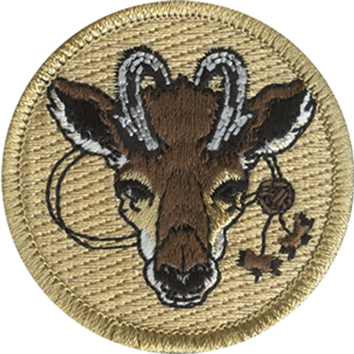 Wood Badge Antelope with Beads Scout Patrol Patch - embroidered 2 inch round