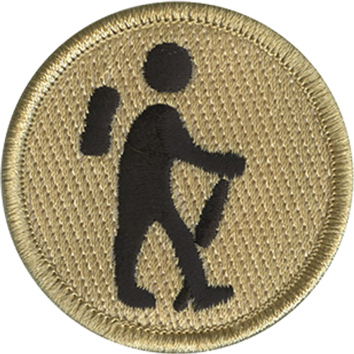 Hiking Scout Patrol Patch - embroidered 2 inch round