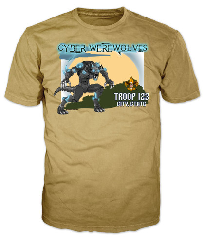 Scouts BSA Patrol Shirt with Cyber Werewolves Patrol