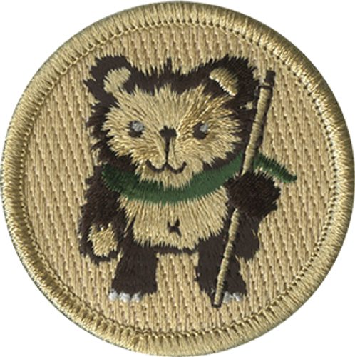 Hiking Bear Scout Patrol Patch - embroidered 2 inch round