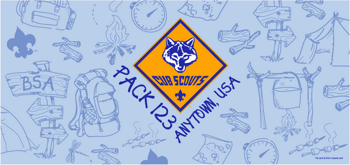 Cub Scout Pack Water Bottle with Cub Scout Logo