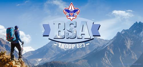 Scouts BSA Troop Mountain Scene Water Bottle SP6927