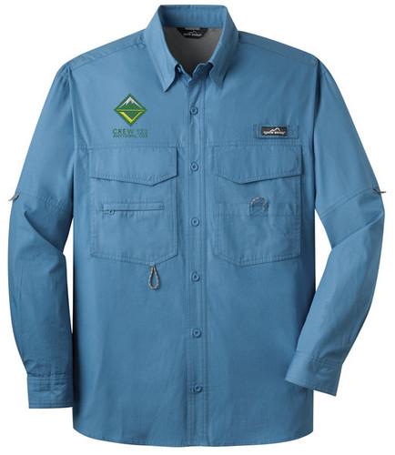 Long Sleeve Fishing Shirt with BSA Venturing Crew Logo