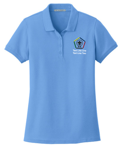 BSA Ladies Cotton Polo with Wood Badge Logo