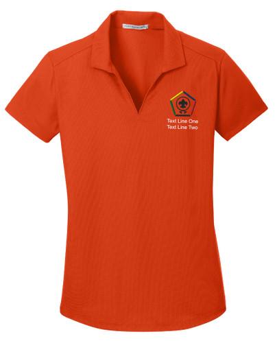 BSA Ladies Wicking Polo with Wood Badge Logo