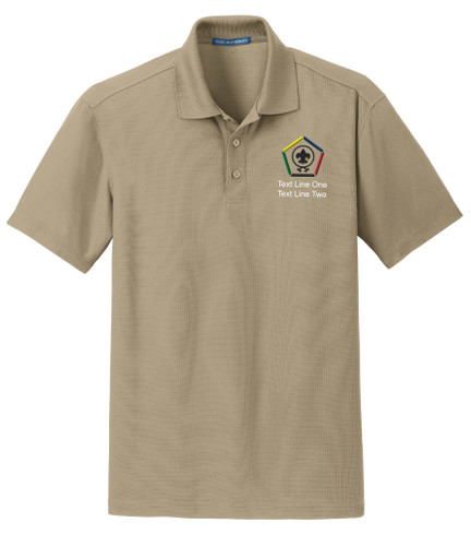 Dry Zone® Grid Wicking Polo with Wood Badge Logo