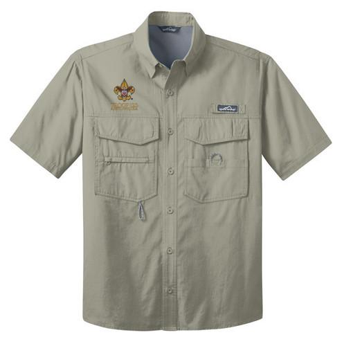 Scouts BSA Short Sleeve Fishing Shirt with BSA Universal Logo