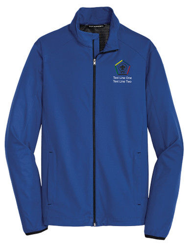 Port Authority® Active Soft Shell Jacket with Wood Badge Logo
