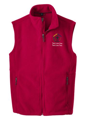 Port Authority® Fleece Vest with Wood Badge Logo