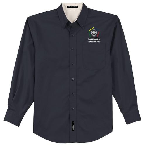 BSA Wood Badge Long Sleeve Shirt with Wood Badge Logo