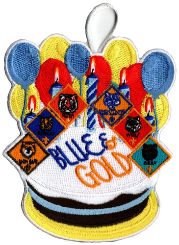 Cub Scout Blue and Gold Patch with Cub Scout Ranks
