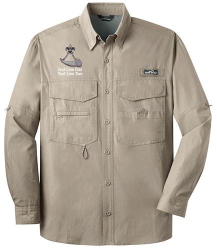 BSA Powder Horn Long Sleeve Fishing Shirt With Powder Horn Logo