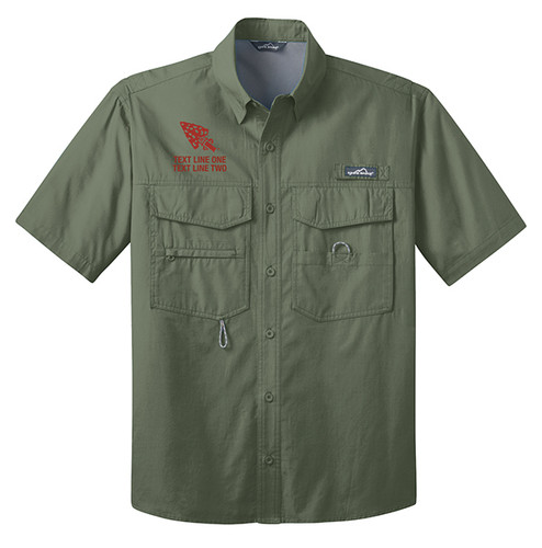 BSA Order of The Arrow Short Sleeve Fishing Shirt with Order of The Arrow Logo