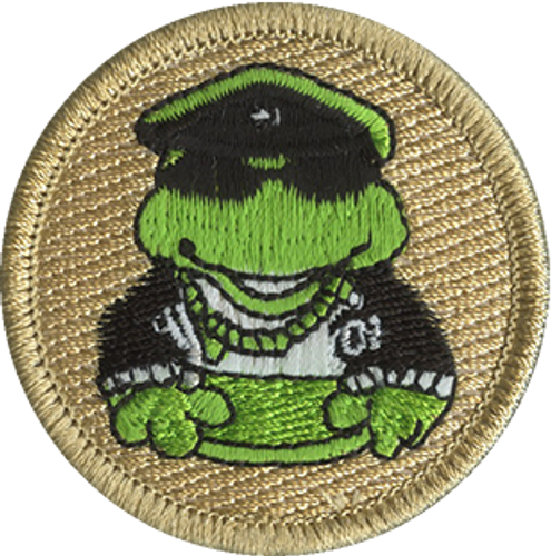Biker Frogs Scout Patrol Patch - embroidered 2 inch round