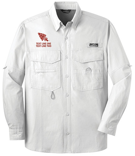 BSA Order of The Arrow Long Sleeve Fishing Shirt with Order of The Arrow Logo