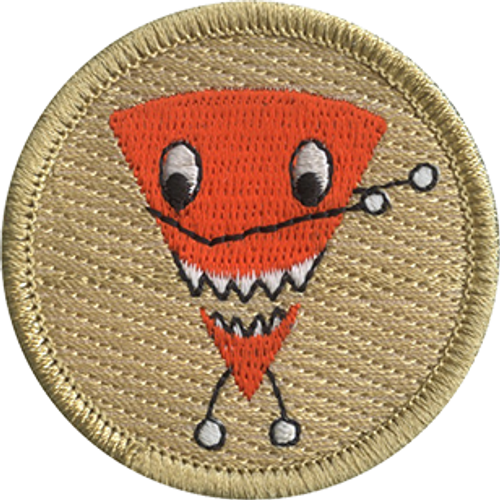 Dabbing Cheesy Chip Scout Patrol Patch - embroidered 2 inch round