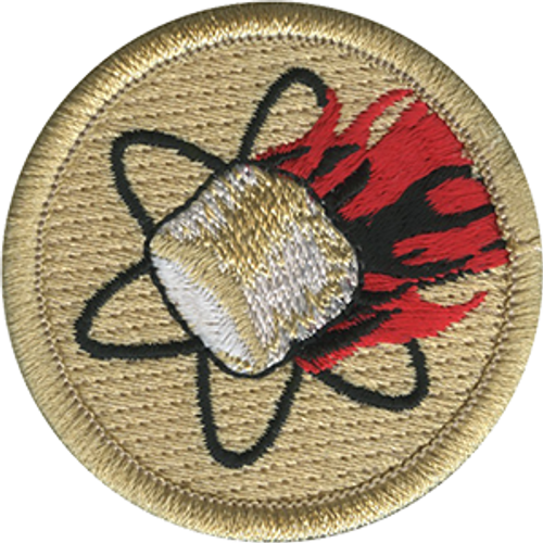 Nuclear Marshmallow Scout Patrol Patch - embroidered 2 inch round