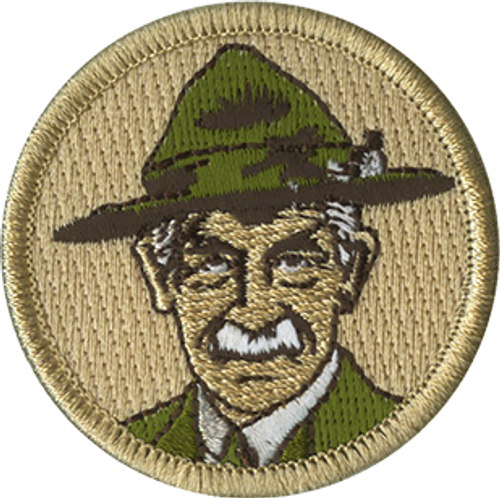 Vintage Baden Powell Scout Patrol Patch - embroidered 2 inch round