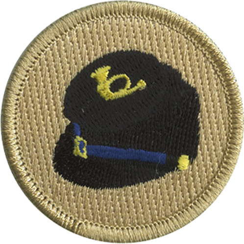 Civil War Infantry Cap Scout Patrol Patch - embroidered 2 inch round