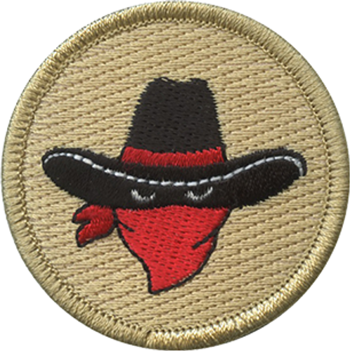 Bandit Scout Patrol Patch - embroidered 2 inch round