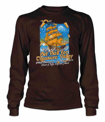 100% Cotton Long Sleeve Tee - Treasure Valley Scout Reservation 2019
