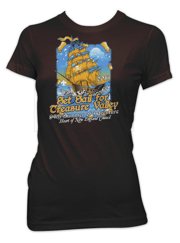 100% Cotton Ladies Short Sleeve Tee - Treasure Valley Scout Reservation 2019
