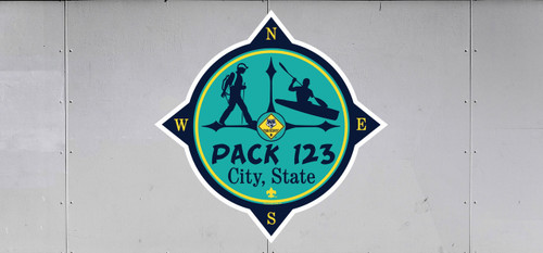 Cub Scout Pack Trailer Graphic With Compass Design