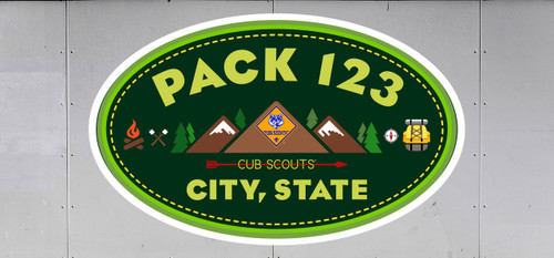 Cub Scout Pack Trailer Graphic With Mountain Design