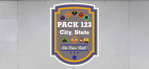 Cub Scout Pack Trailer Graphic With Rank Plaque Design