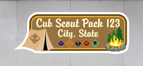 Cub Scout Pack Trailer Graphic With  Campout Design