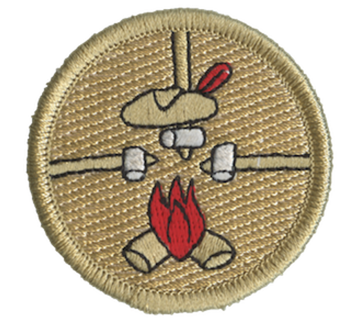 Three Roasting Marshmallows Scout Patrol Patch - embroidered 2 inch round