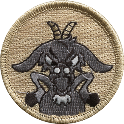 Akimbo Old Goat Scout Patrol Patch - embroidered 2 inch round