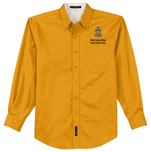 BSA Sea Scout Long Sleeve Shirt with Sea Scout Logo - Yellow