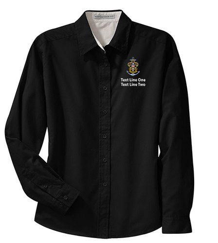 BSA Sea Scout Long Sleeve Shirt with Sea Scout Logo - Black