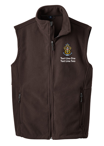 BSA Sea Scout Vest with Sea Scout Logo - Brown