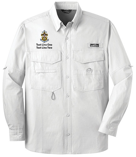 BSA Sea Scout Short Sleeve Fishing Shirt with Sea Scout Logo - White
