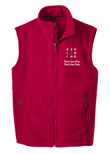 BSA Exploring Vest With Exploring Logo - Red