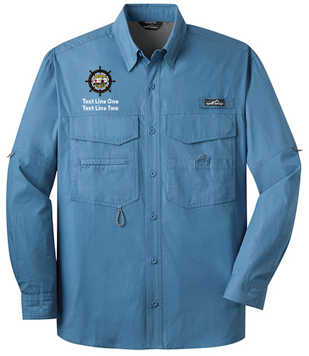Eddie Bauer® – Long Sleeve Fishing Shirt  with Sea Base Logo